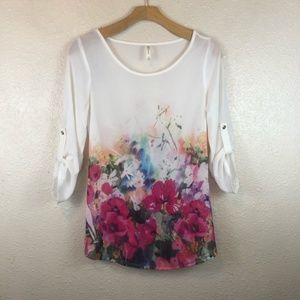 🌵 DNA Couture Medium Floral blouse 3/4 sleeve